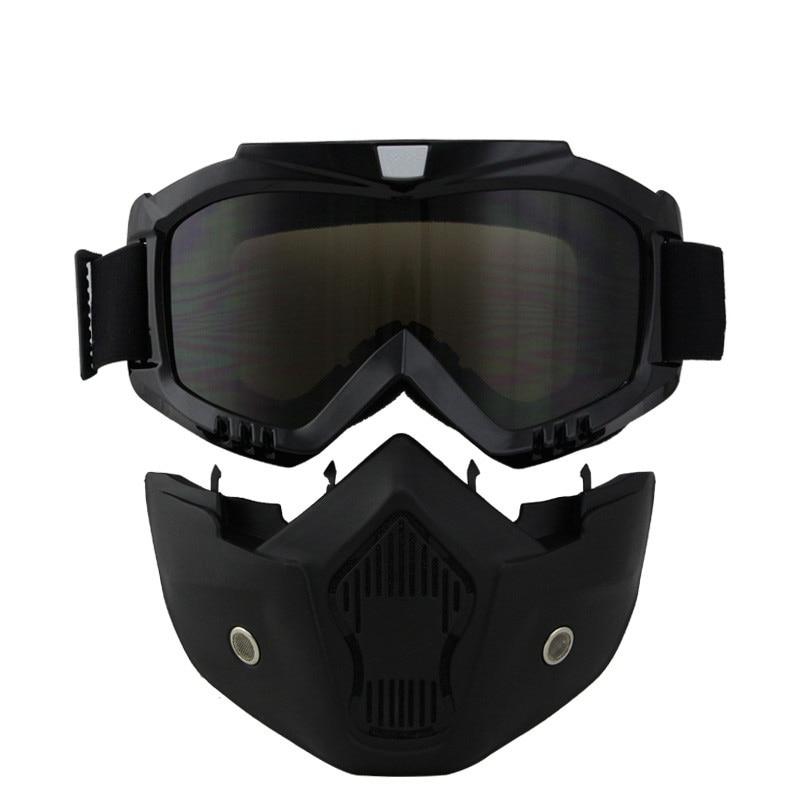 NYHET Dammsäker motorcykelhjälm Mask retro vintage mask med - Motorcykel tillbehör och delar - Foto 4