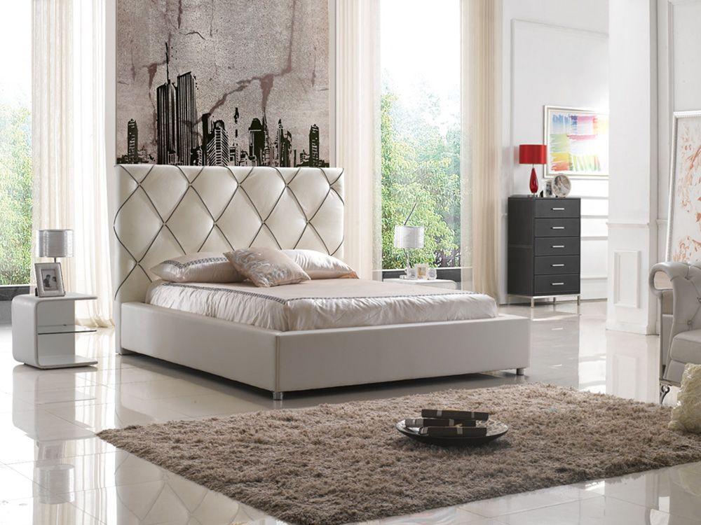 nueva alta cabecera moderna cama para dormir a cuadros de cuero muebles de dormitorio