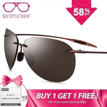 51bc3d0228 Ultem TR90 sin montura gafas de sol hombres ultraligero 2018 alta calidad  Aviador con espejo de aviación, gafas de sol para las mujeres de Nylon de  la lente