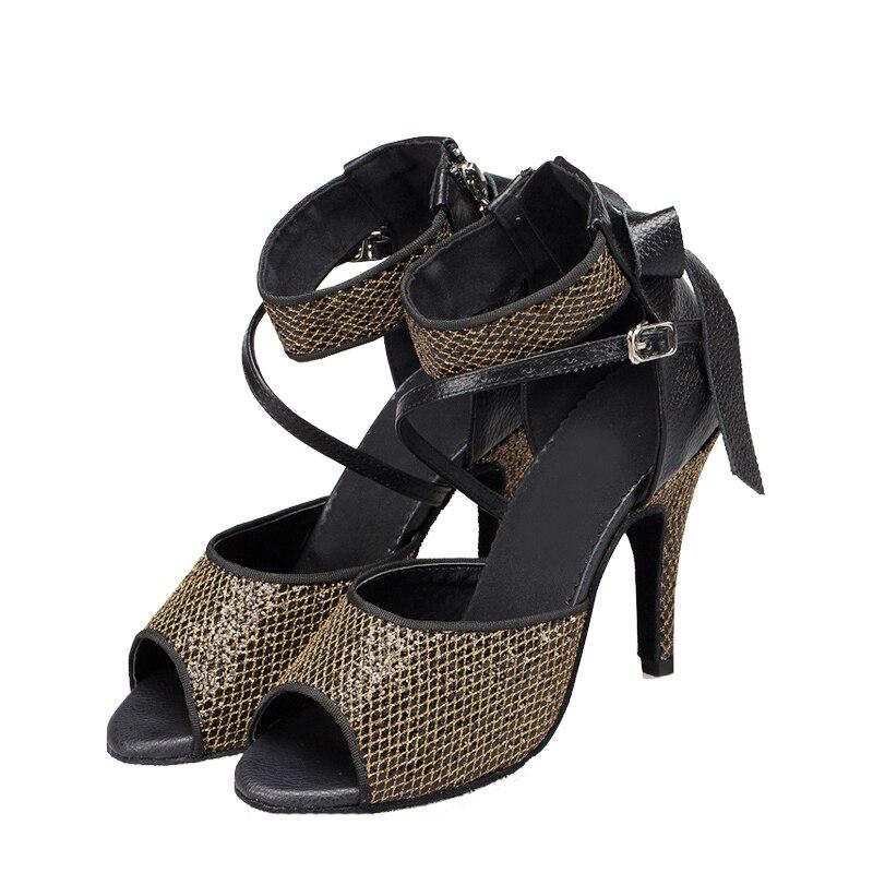 35e12384b5 DILEECHI Nova chegada Adulto sapatos de dança Latina das mulheres alta  salto alto 10 cm de couro genuíno sapatos de dança de salão Salsa sapatos de  festa em ...