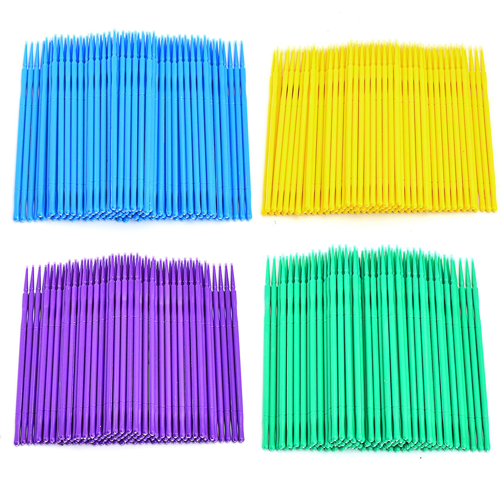 100 Stks / partij Duurzaam Wegwerp Wimper Micro Borstels Mascara Wattenstaaf Wimper Extension Borstels Applicator Toverstaven Makeup Tools Kit