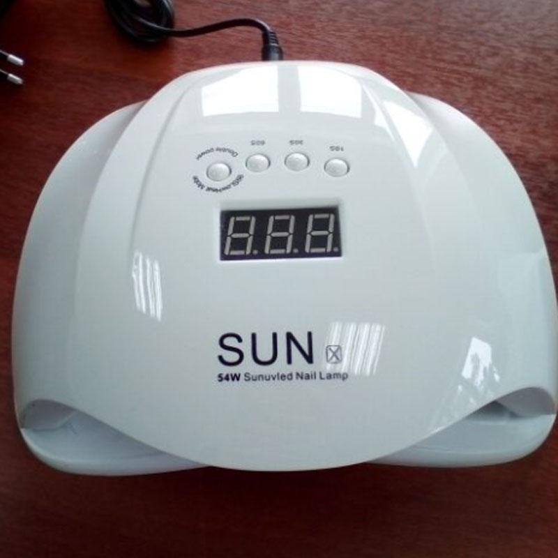54W Nail Dryer Dual UV LED Nail Lamp Gel Polish Curing Light with Bottom 30s/60s Timer LCD display lamp for nails nail dryer gustala sunx5 uv led 54w nail dryer gel polish smart curing lamp 36 led lamp beads for all types gel with 10s 30s 60s 99s timer