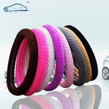 Cover/universal plush pearl steering velvet covers interior wheel girl warm winter