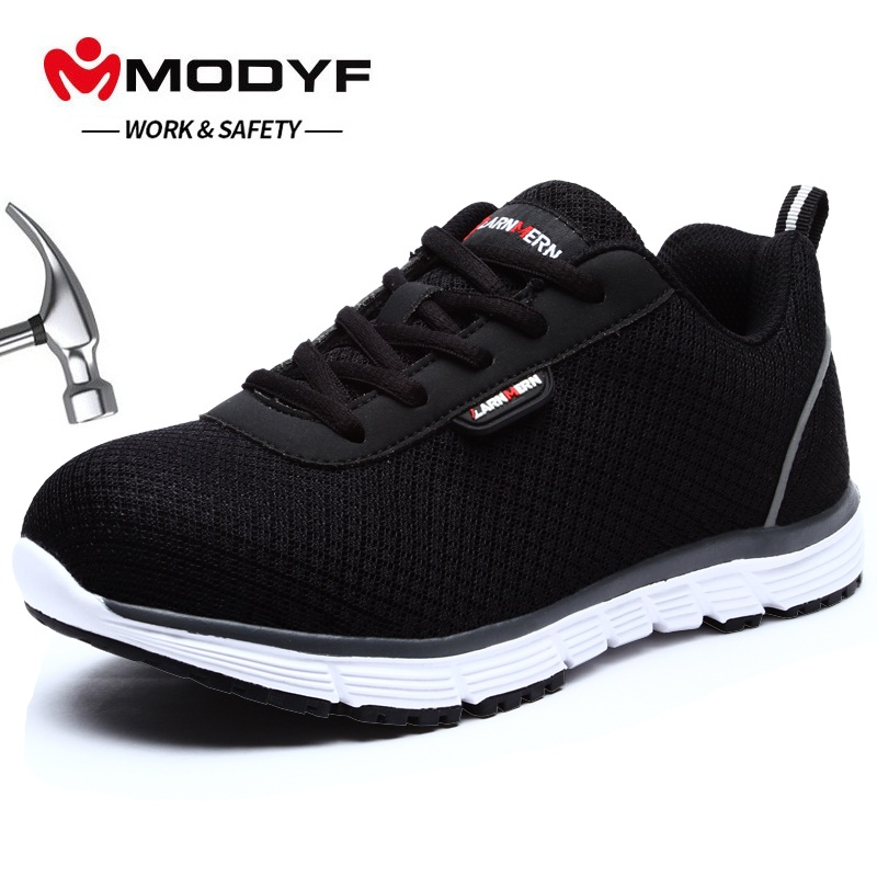 MODYF Women s Steel Toe Work Safety Shoes Lightweight Breathable Anti Smashing Non Slip Reflective Casual