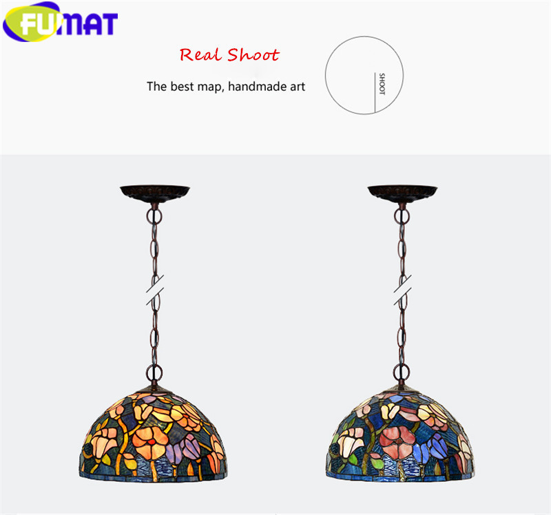 19Tiffany bombax Stained Glass Pendant Lamps