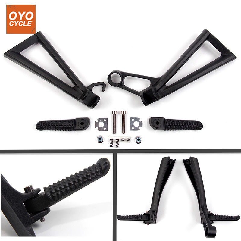Rear Passenger Foot Pegs For Yamaha YZF R6 2003 2004 2005 Bracket Footrests Footpegs YZF-R6 Foot Rests