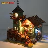 LIGHTAILING Led Light Up Kit For Old Fishing Store Model Building Block Light Set Compatible With