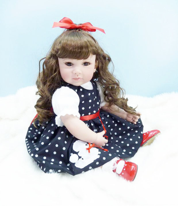 Pursue 20/50 cm Beautiful Curly Hair Silicone Reborn Toddler Princess Girl Doll Toys for Children Girls Holiday Birthday Gifts disney princess brass key 2003 holiday collection porcelain doll snow white