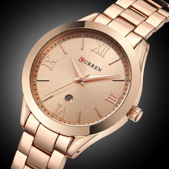 CURREN Women´s Top Brand Luxury Casual Rose Gold Steel Classic Dial Ultra-Thin Quartz Watches 5