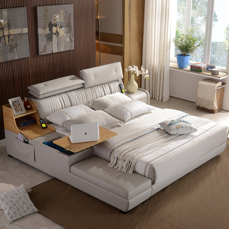 15 m 18 m customized leather bed frame for bedroom ce 8008 - Custom Bed Frames