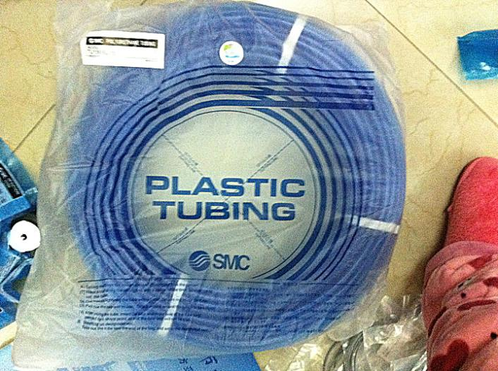SMC pneumatic Blue air hose TU1065BU-20 Inside diameter 6.5mm External diameter 10mm Hose length 20m smc pneumatic white air hose tu1208c 100 inside diameter 8mm external diameter 12mm hose length 100m