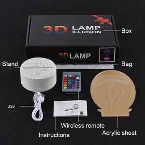 Image 2 - אור עד צעצועי 3D אשליה Led מנורת איפקס אגדות מיראז פעולה איור לילה אור מגן לילדים הווה איפקס צעצועים עבור גיימרים