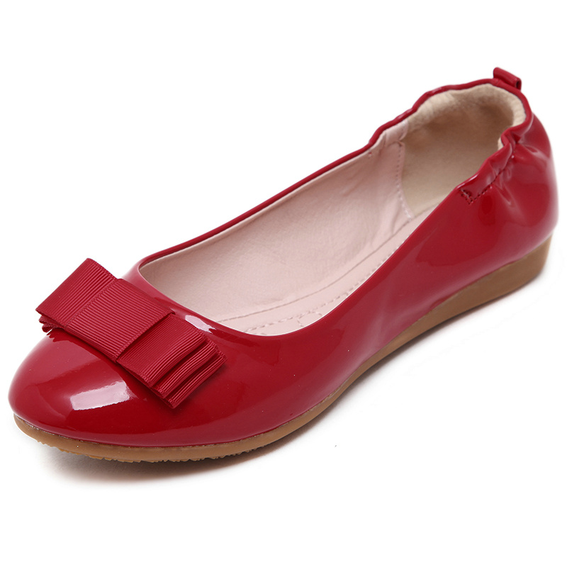 Femmes Femme Ummewalo En Plat Chaussures Beige Verni Dames Ballet noir Bout Cuir Doux Rond Ballerines rouge Casual 0c0AEqn1x