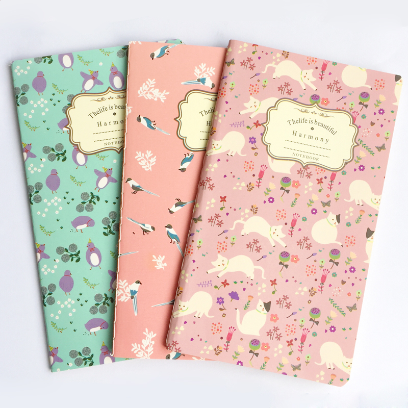 20 Sheets Elegant Floral Blank Kraft Paper Notebook To Do List School Office Supply Student Stationery