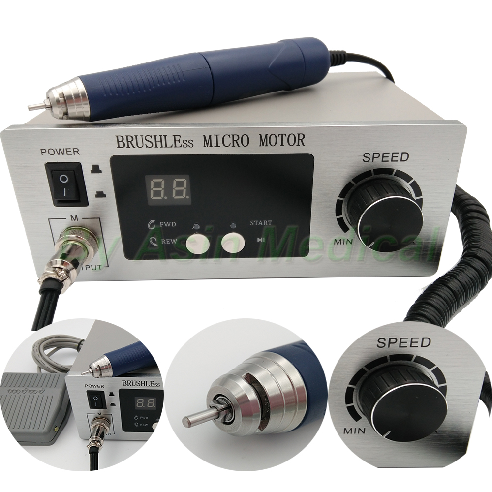 New style Free shipping Dental Micromotor Polishing Unit 70,000 RPM Brushless with lab handpiece dental micro motor