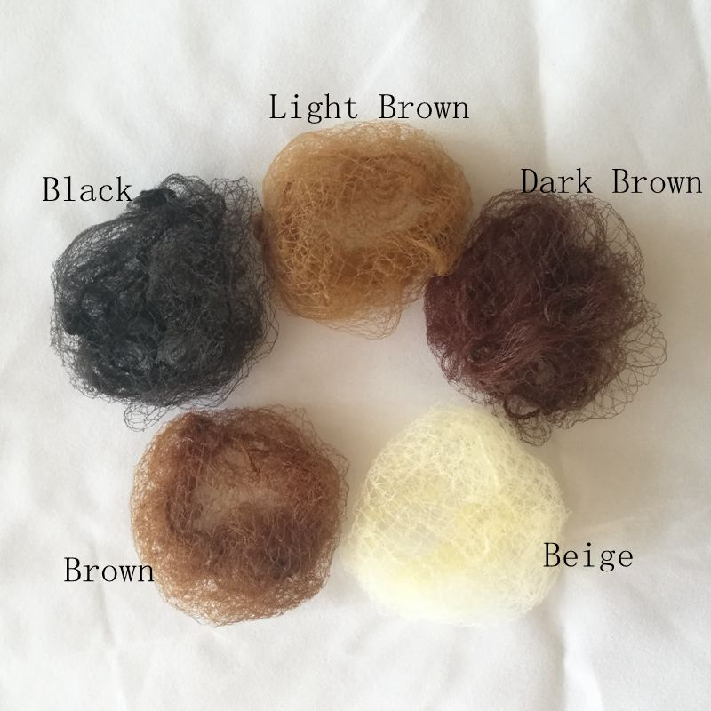 20pcs Black Brown Beige Invisible Small Mesh Hair Styling Net Hair Caring Hairnet 20 Inches Stretch Length