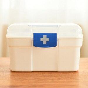 Image 2 - 大家族緊急キット子供緊急ボックスポータブル救急箱旅行医療キットヘルスケア収納袋空の袋