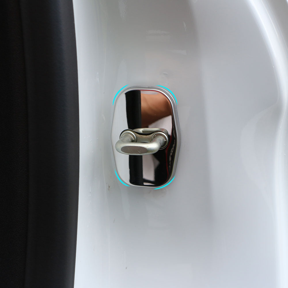 Jameo Auto Car Door Lock Protecetion Cover Door Lock Covers For Peugeot 308 408 508 3008 207 For Citroen C4L For DS3 DS4 DS5 DS6