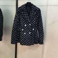 Высококачественная куртка женская 2019 подиумная мода длинный рукав женская одежда с 100% шелковой подкладкой