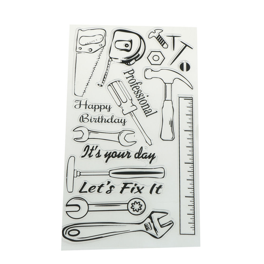 English Transparent Clear Silicone Stamp/seal For Diy Scrapbooking/photo Album Decorative Clear Stamp Home & Garden Arts,crafts & Sewing