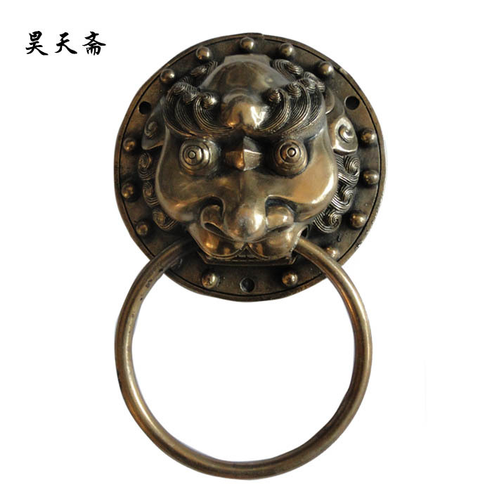 [Haotian vegetarian] Ming and Qing antique Chinese furniture, copper fittings copper beast handle knocker HTA-046 [haotian vegetarian] ming and qing antique furniture copper fittings copper box buckle copper box lock htn 046