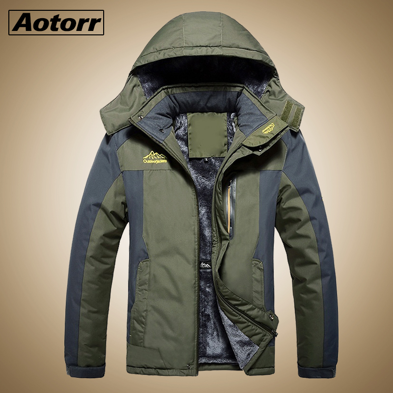 Winter Men Jackets Thick Mens Hiking Jacket Casual Outwear Warm Hooded Coat Man Windproof Overcoat Homme Outdoor Fashion Top(China)