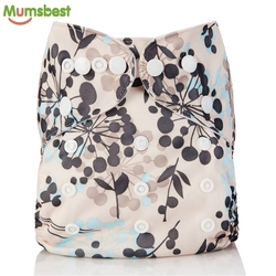 [Mumsbest]New Baby Washable Cloth Diaper Pocket Cartoon Animal Adjustable Nappy Reusable Cloth Diapers Available 0-2years 3-15kg