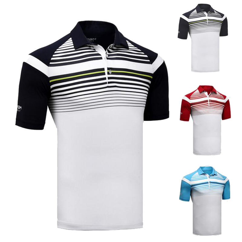 High Quality Golf Shirt Men Sports POLO Shirt Turn-down Collar Jersey Anti Sweat Comfortable Good Elastic Summer Shirt slim fit turn down collar colored plaid lining solid color shirt for men