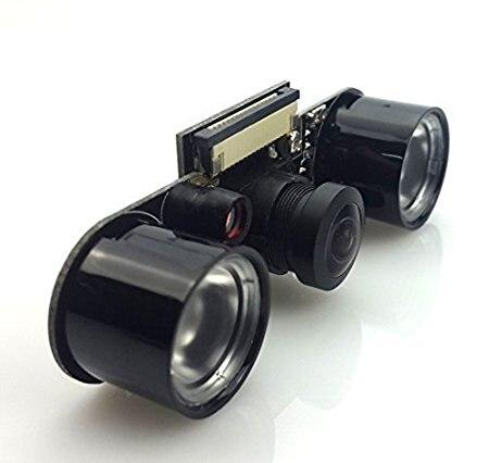 Eleduino Omni vision 5647 Vision nocturne 5.0Mp Module de caméra, 160 degrés grand Angle lentilles de poisson pour Raspberry Pi