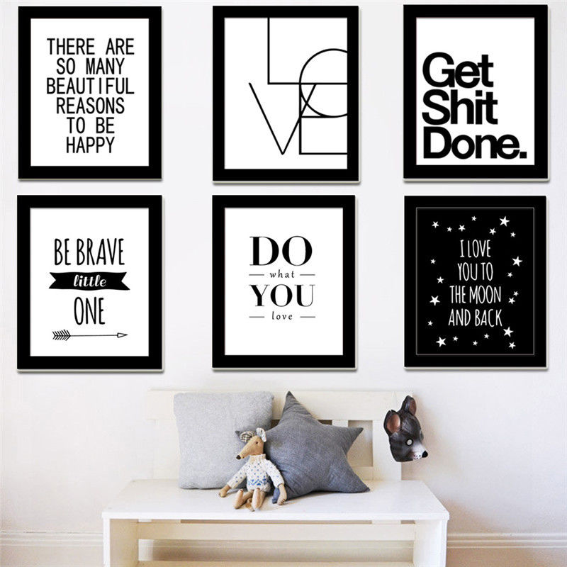 A3 A4 Motivational Quotes Canvas Print Poster Wall Art Painting Picture For Office Decor