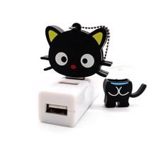 lovely cat usb flash pendrive cartoon pen drive 64gb  32gb high speed 2.0 free shipping cle fleshka pendraives