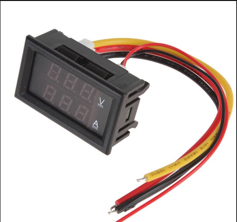 Elektronske kompon. ... Aktivne komponente ... 32642936158 ... 4 ... DC 0-100V 10A Digital Voltmeter Ammeter Dual Display Voltage Detector Current Meter Panel Amp Volt Gauge 0.28