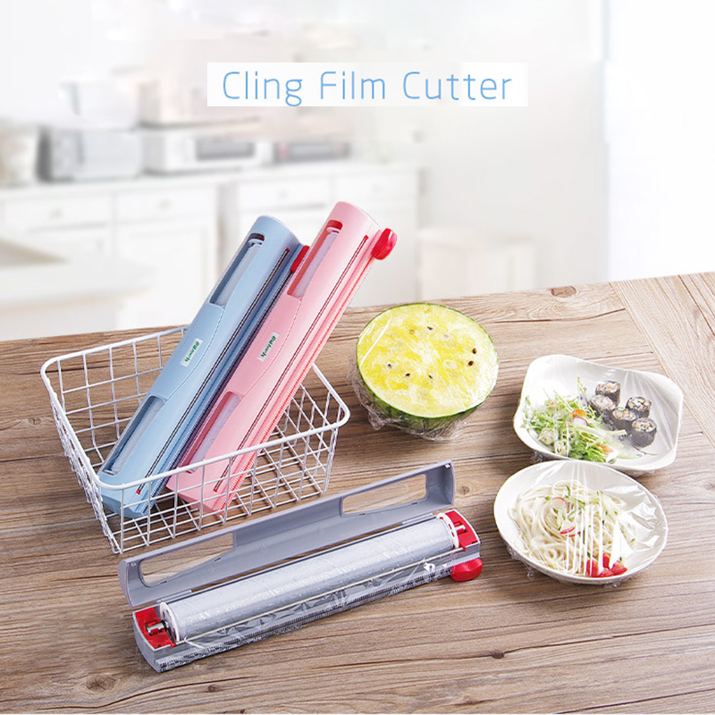 Household Plastic Wrap Cutter Distribution Cling Film Creative Kitchen Utility Cling Film Cutting Box CF