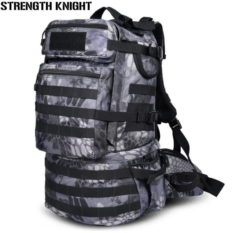 50L Large Capacity Men s Military Backpack Multifunction Waterproof Mountaineering Backpacks Wear resisting Travel Bag