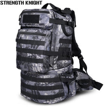 Military Army Backpack 50L Nylon Water-proof Camp Hike Trek Camouflage Backpacks Large-capacity Men Bag A103