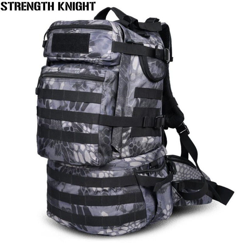 Military Army Backpack 50L Nylon Water-proof Camp Hike Trek Camouflage Backpacks Large-capacity Men Bag A103 swyivy 50l military army bag high quality waterproof nylon camouflage backpacks trekking 3p tactical backpack men s sports bag