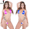 OXOSEXY nuevo set de bikini de tres puntos de 10 colores para mujer Sexy disfraces de cuero sexy Lencería caliente Babydoll Pole Dance lenceria sexy 650