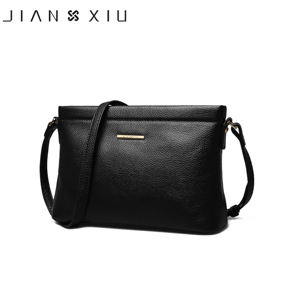JIANXIU Brand Women Messenger Bags Female Shoulder Crossbody Litchi Texture Genuine Leather Bag 2018 New Solid Color Small Bag free shipping new fashion brand women s single shoulder bag lady messenger bag litchi pattern solid color 100