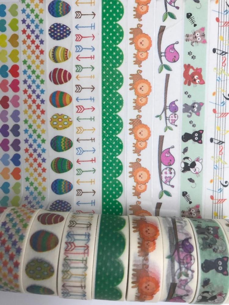 1.5cm*10m jiataihe Washi Tape eggs Diy butterfly washi tape Masking washi Tape lion Adhesive Tape Kawaii Stationery gw0035 12 10m automotive adhesive tape