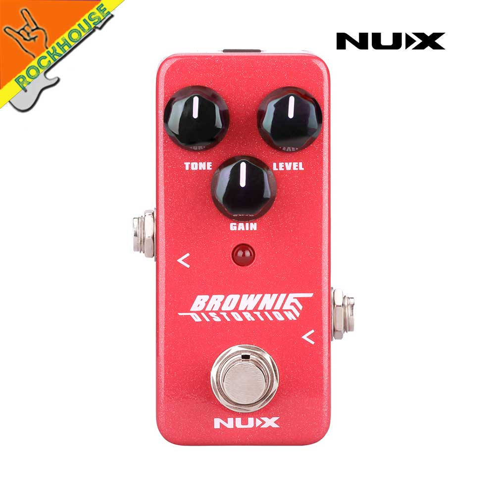 New NUX Mini Core Brownie Distortion Guitar Effects Pedal Classical British Rock Tone Brown Sound True Bypass Free Shipping nux hg 6 guitar distortion 3 gain stages electric effect pedal true bypass led indicator for rock solo durable free shipping