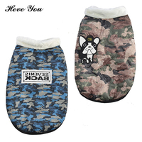 Heve You 2018 New Winter Large Dog Clothes Dog Camouflage Clothes Dogs Waterproof Pet Dog Coat