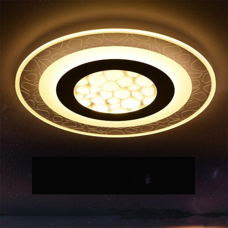 Super tenký čtverec Moderní akryl LED Stropní světla Obývací pokoj Interiér Obdélníkový Lamparas de Techo Remote Controlled Luminaria