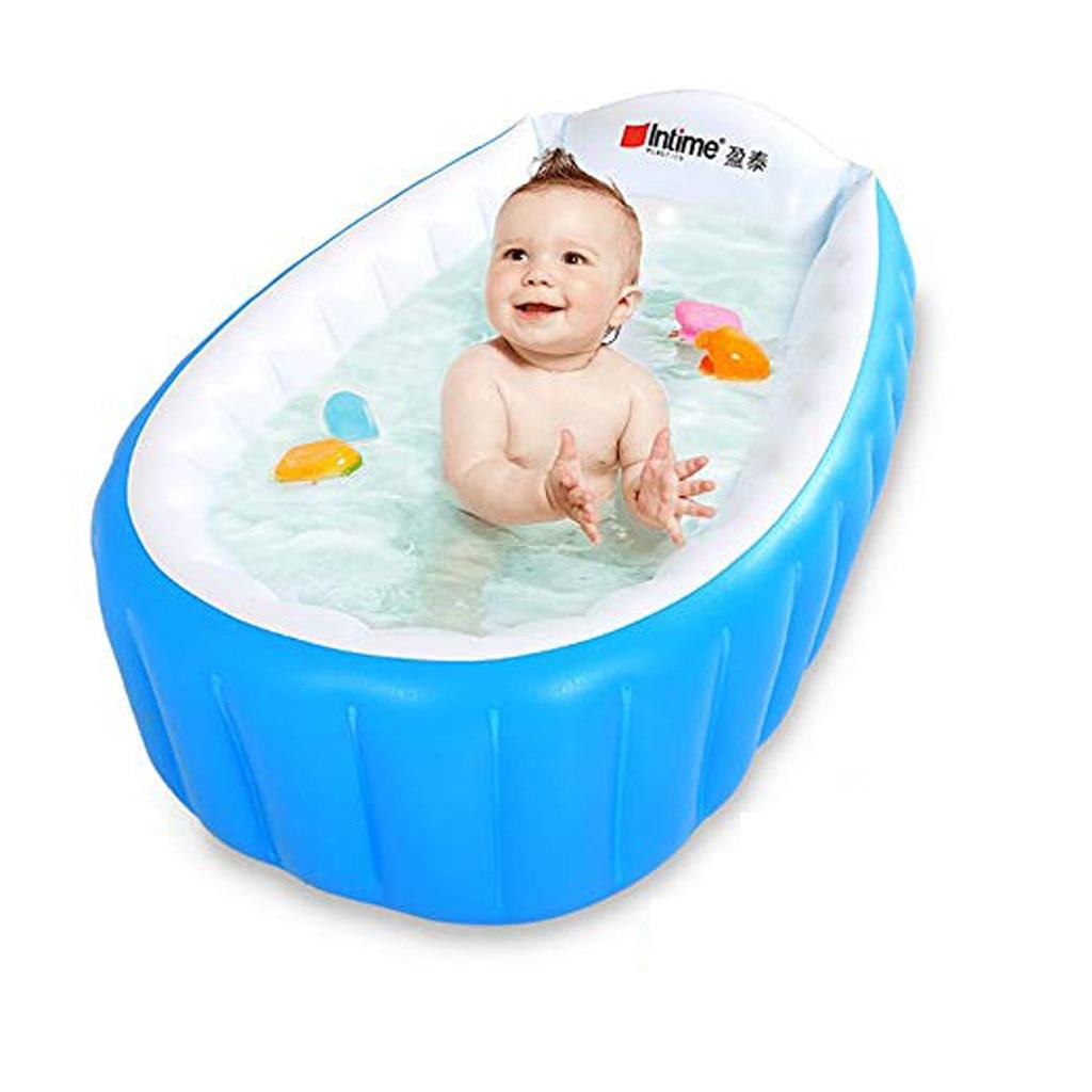MUQGEW Newborn Children Baby Inflatable Bathtub Anti-slippery Swimming Pool Foldable Toddler Baby Bathtub Swimming Pool