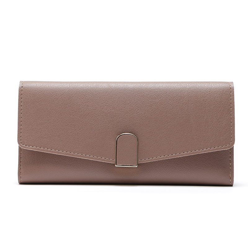 Fashion Lady Long Wallets Women PU Leather Purses Card Holder Cluth Wallet Elegant Female Black Purse Womens Solid Wallet Brand