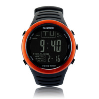 SUNROAD Men's Sports Digital Watch FR720A Hiking Barometer Altimeter Thermometer Weather Forecast Waterproof Watches (Orange)