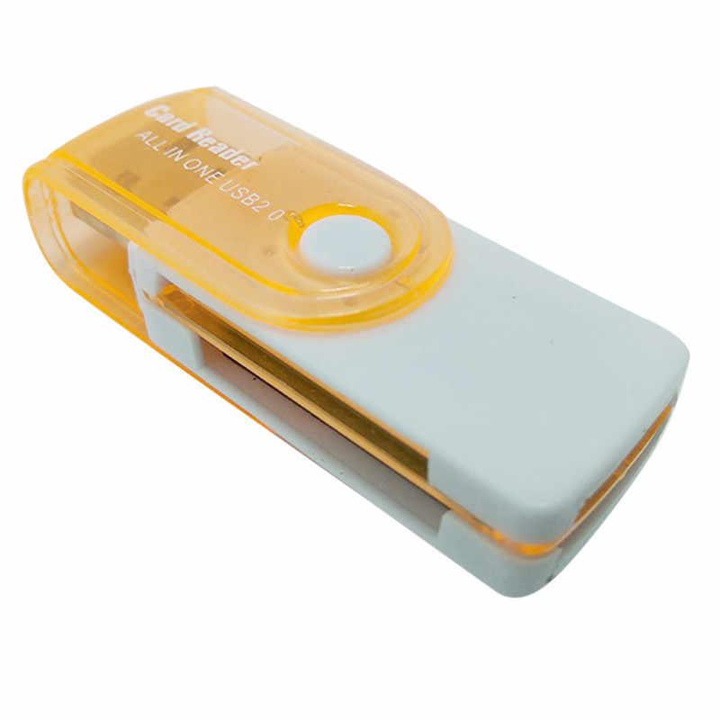 4 فتحة للبطاقات الذاكرة Cardreader ل MS برو ديو SDHC Mini الكل في واحد USB 2.0 قارئ بطاقات الذكية SD/MMC/TF/مايكرو MS M2 قارئ بطاقات