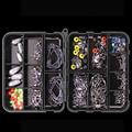 160 шт./комплект рыболовных принадлежностей  включая рыболовные крючки  рыболовные грузила  поворотные застежки для рыбалки с коробкой для р...