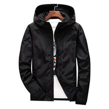 Plus Size 7XL Autumn Men Sports Loose Running Jacket Solid Black Hip Hop Slim Fit Male Bomber Jacket Hooded Coat Sportswear 2018(China)