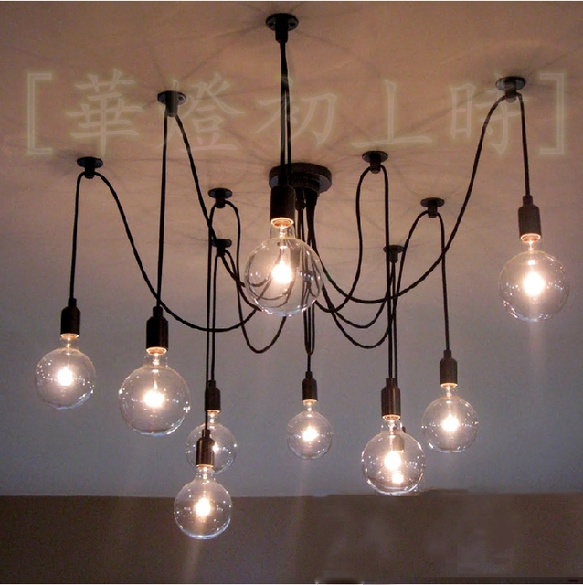 Online Shop Modern fashion retro 10 arms Edison filament bulbs ...