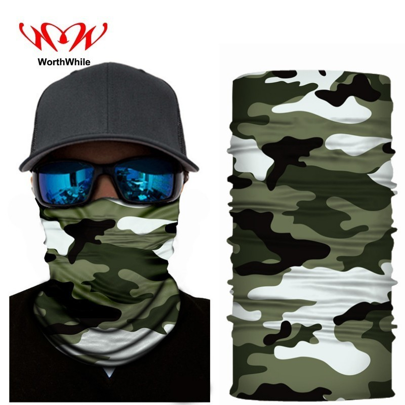 WorthWhile Cycling Magic   Headwear   3D Seamless Bandana Headband Facemask Face Shield Ice Silk Cool Scarf Women Men Neck Warmer